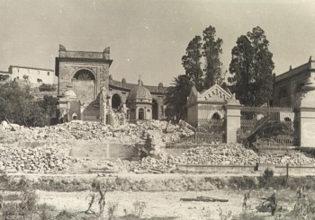 Panoramica danni al Cimitero